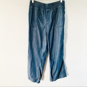 Chico's Pull on Lyocell Denim Cropped Pants Sz 10